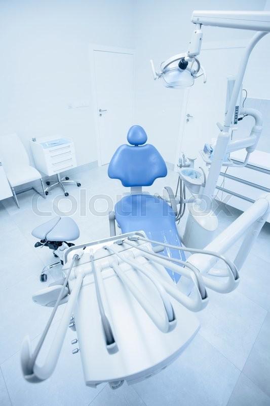 Modern dental practice  Dental chair     | Stock image