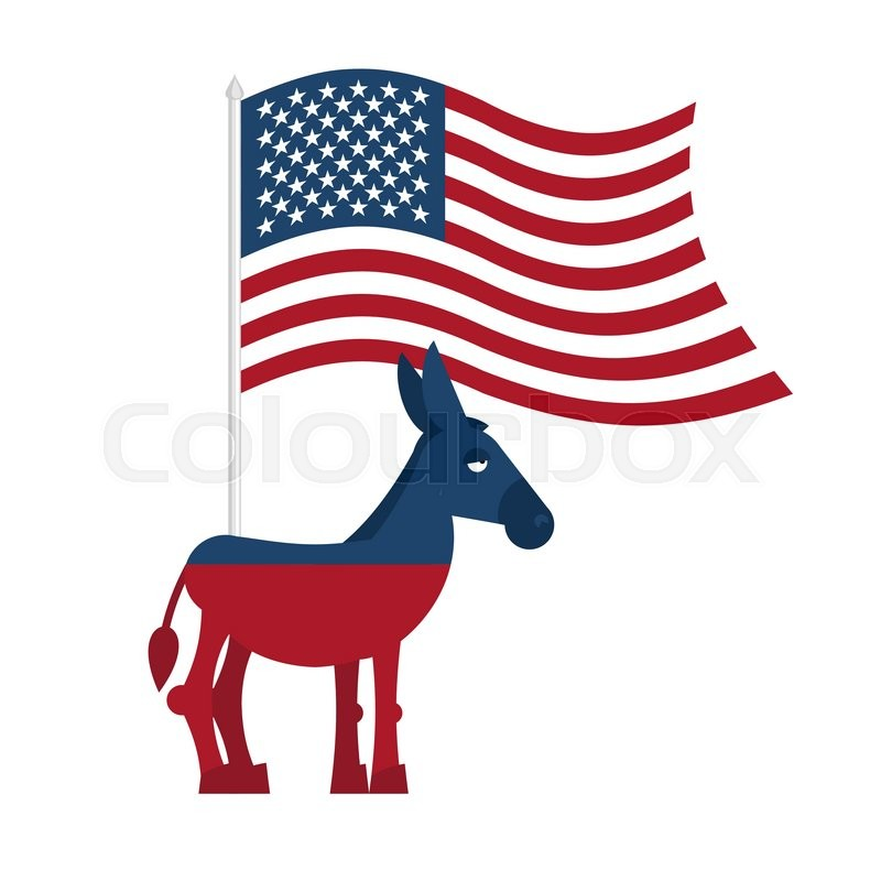 Donkey Democrat Symbol Of Political Party In America Political