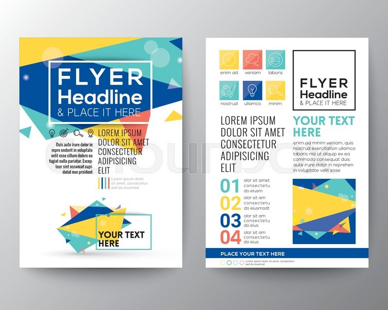 abstract triangle shape poster brochure flyer design layout vector