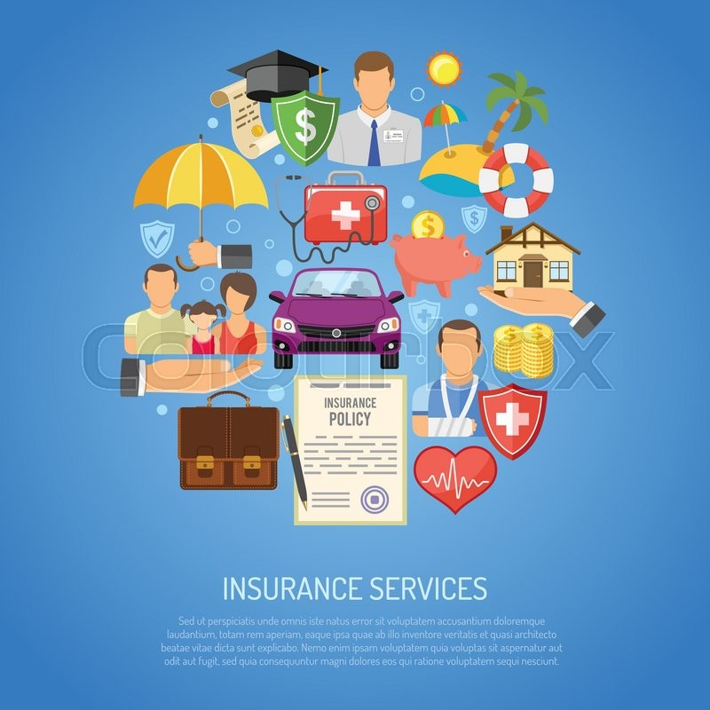 Insurance Services Concept for Poster, ... | Stock Vector ...