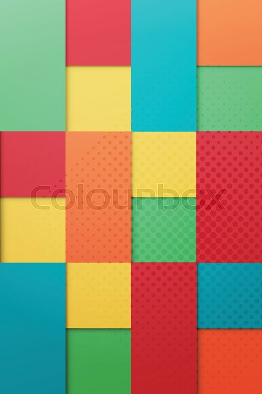 abstract contemporary origami style colorful background vector