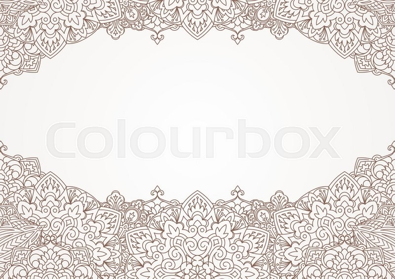 unusual decorative background with henna elements in east