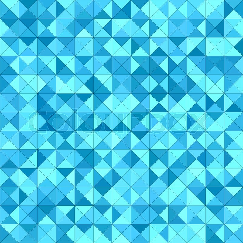 Light blue triangle mosaic vector background design ...