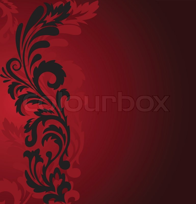 Abstract Red Background With A Stock Vector Colourbox