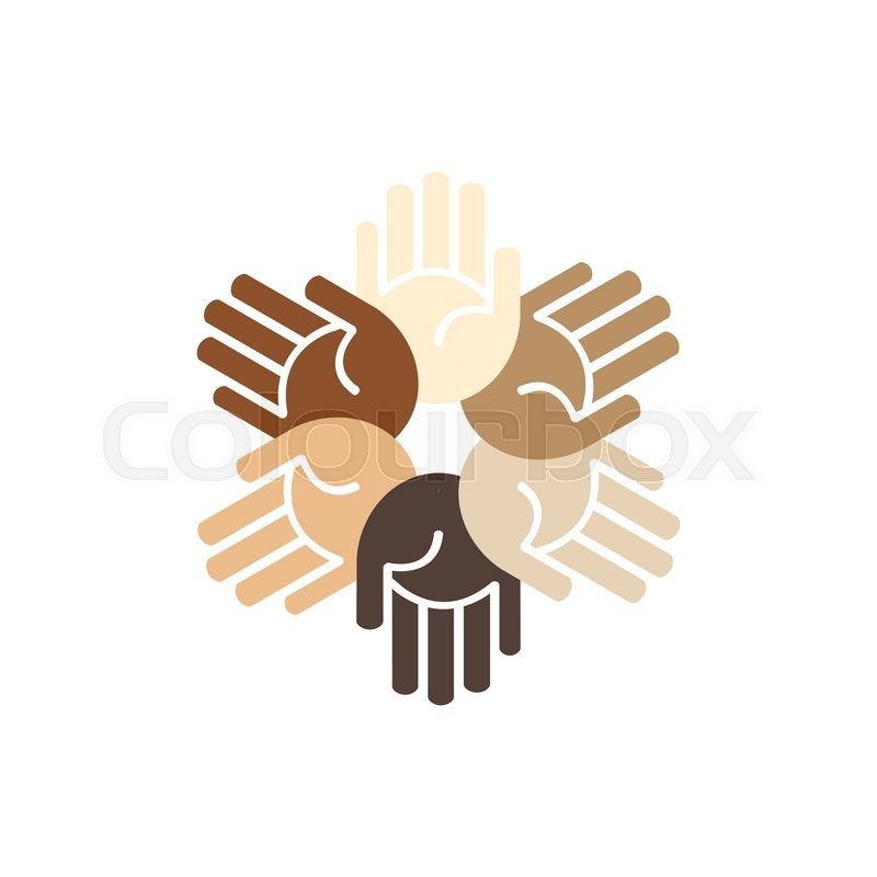 Vector People Unity Logo Hands Of Stock Vector Colourbox