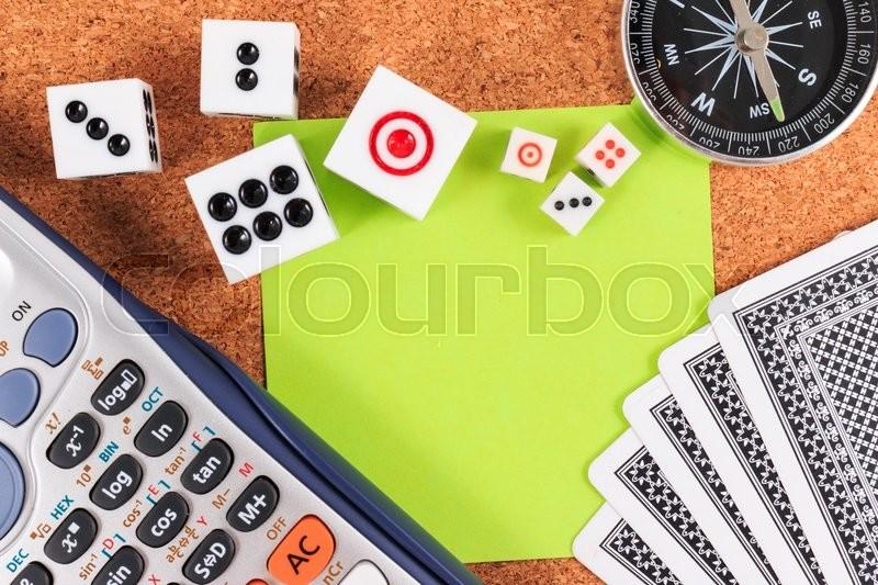 Travel Gambling plans and strategies. Travel and gamble, stock photo