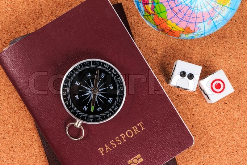 Travel and gamble. Compulsive gambling preparing for appointment, stock photo