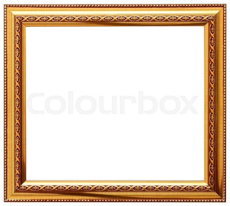 Golden spiral flower frame Wood frame simple design Stock