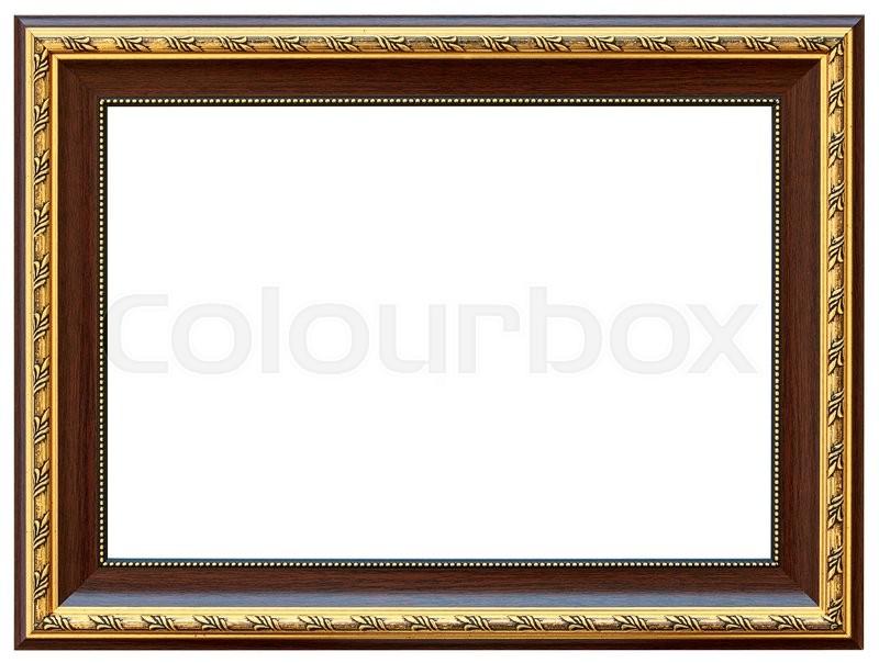 Wood Vintage Frame Isolated On White. ...