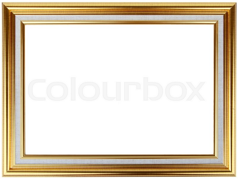 Gold vintage frame isolated on white gold frame louis for Best place to buy frames online