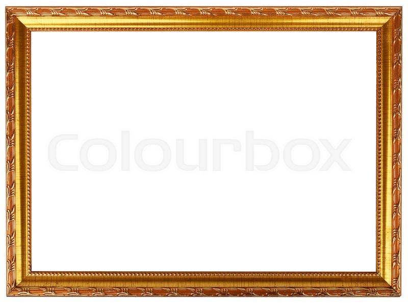 0987fcfa1081 Gold vintage frame isolated on white. ...