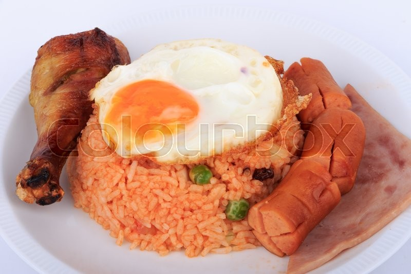 Thai food american style breakfast set american fried for American style cuisine
