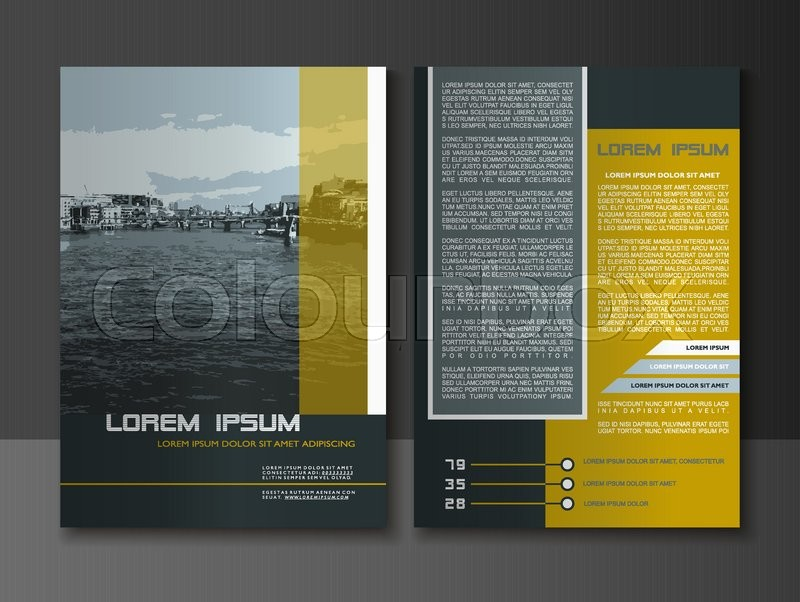 Modern Style Brochure And Flyer Design Templates, Creative Annual