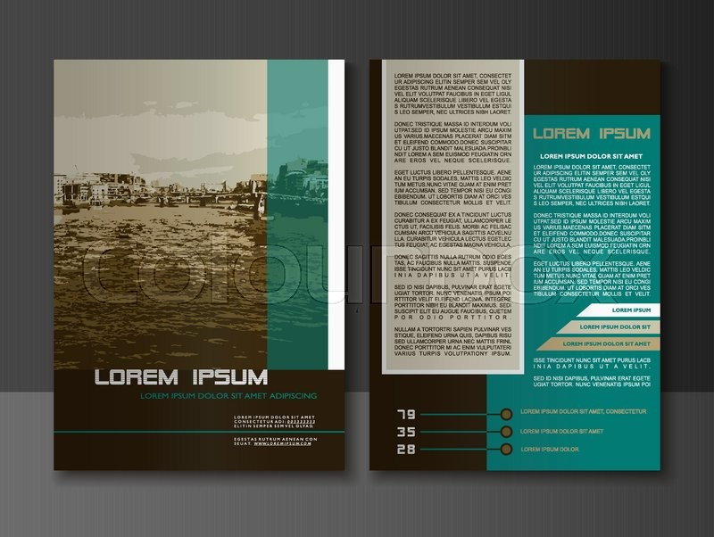 Modern Style Brochure And Flyer Design Templates Creative Annual