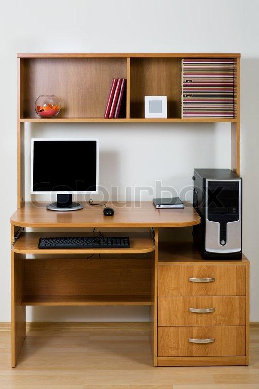 Купить компьютерный стол с надстройкой и шкафчиком недорого..