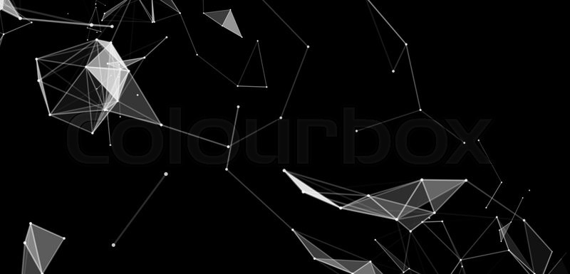 Virtual abstract background with particle, molecule structure ...