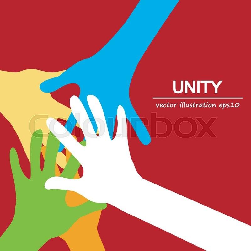 Hands diverse togetherness bac...