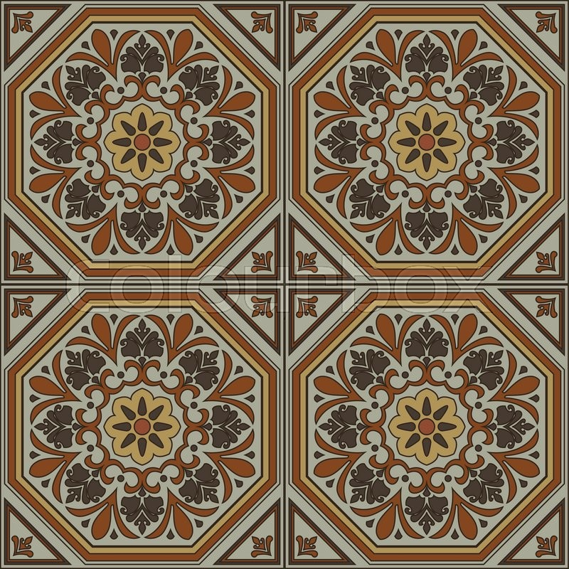 Spanish traditional ornament Mediterranean seamless pattern tile Classy Pattern In Spanish