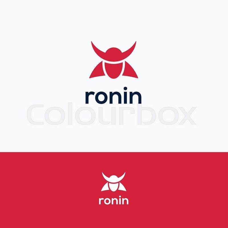 face simple ronin man samurai logo stock vector colourbox rh colourbox com samurai logo with no no background samurai lagoon utah