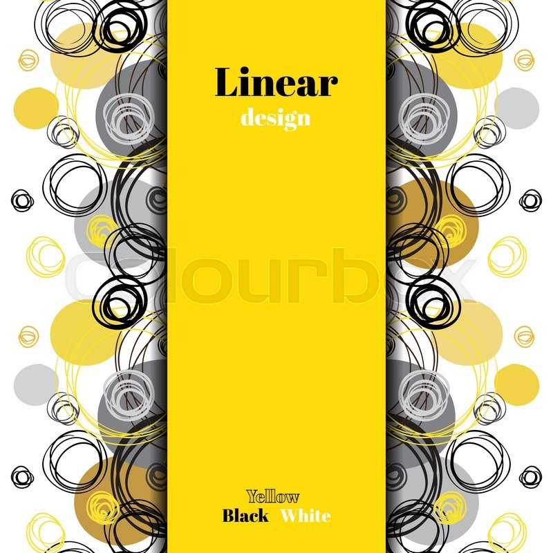 Abstract geometric background vertical center border for Yellow black and white kitchen designs