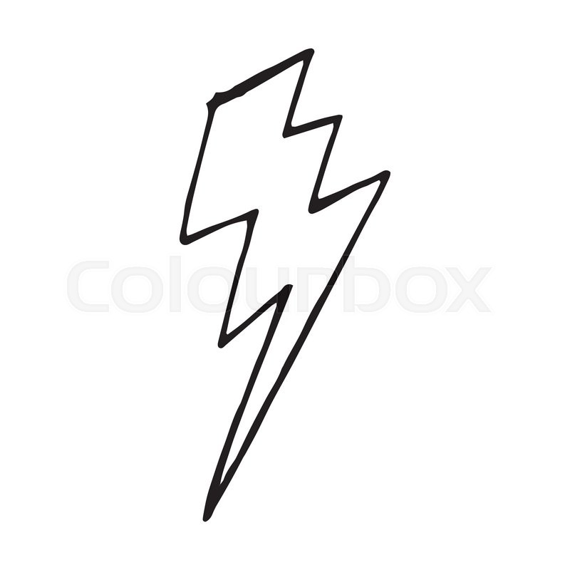 Lightning bolt doodle vector hand drawn illustration isolated | Stock Vector | Colourbox  sc 1 st  Colourbox & Lightning bolt doodle vector hand drawn illustration isolated ... azcodes.com