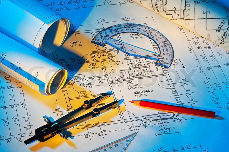 r blueprint for a house floor plans and drawings of an architect