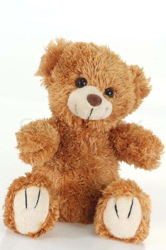 cute teddy bear on bright background stock photo colourbox