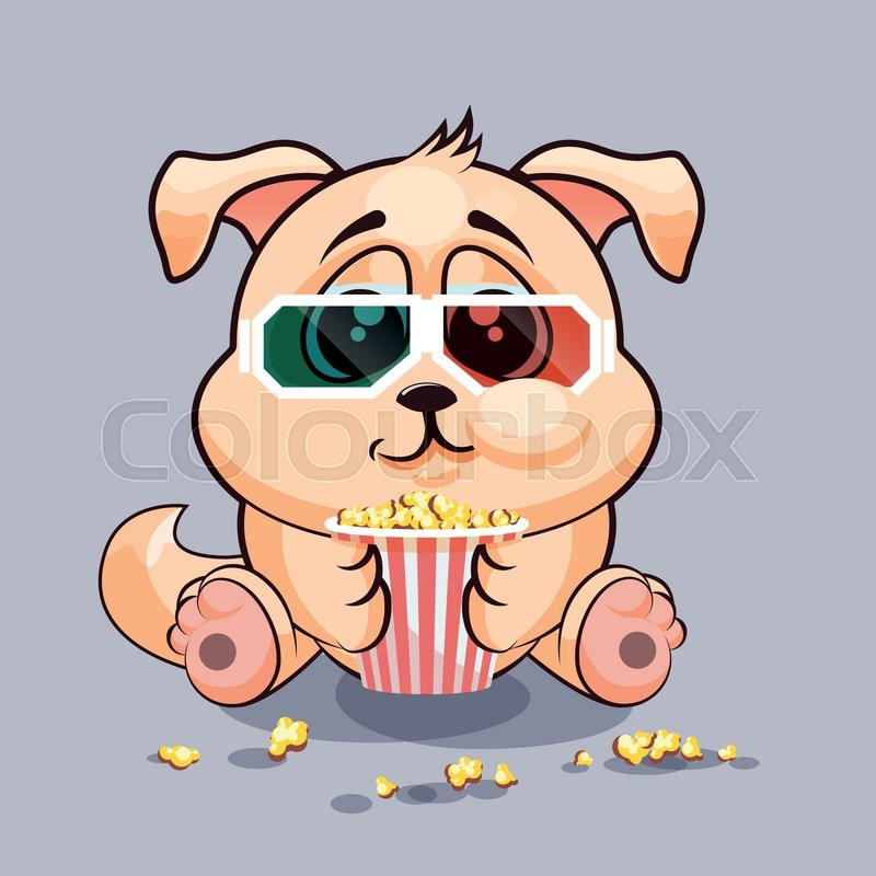 vector stock illustration emoji character cartoon dog chewing rh colourbox com white cartoon dog with glasses famous cartoon dog with glasses