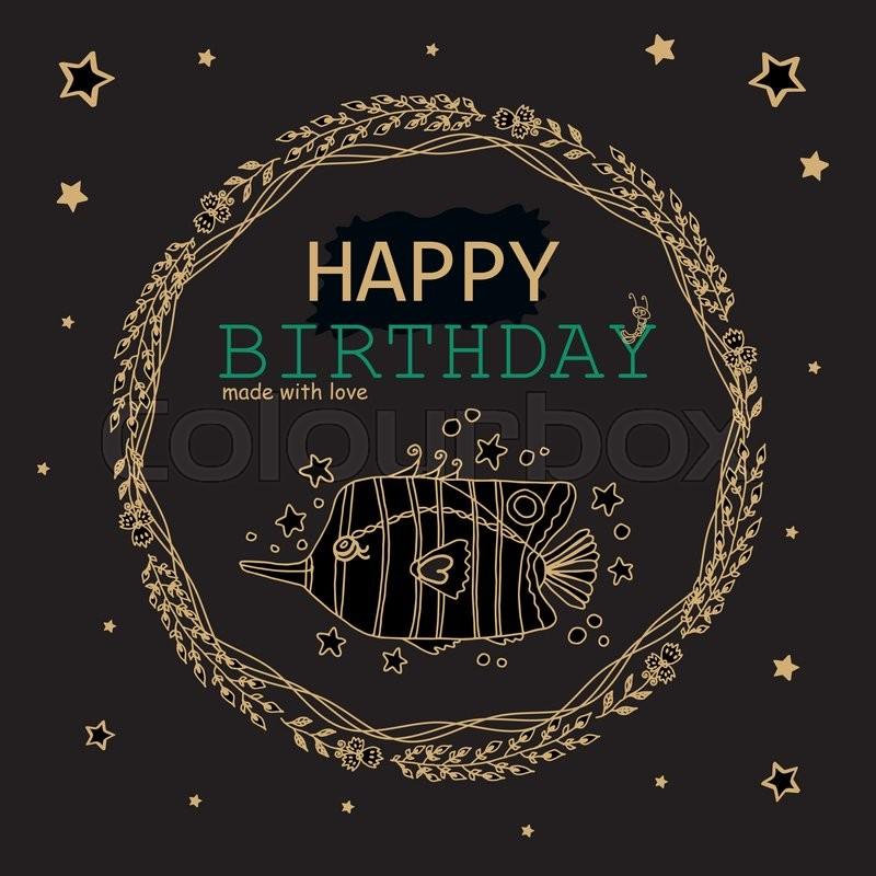 Happy birthday greeting card black gold metallic and jade green stock vector of happy birthday greeting card black gold metallic and jade green m4hsunfo