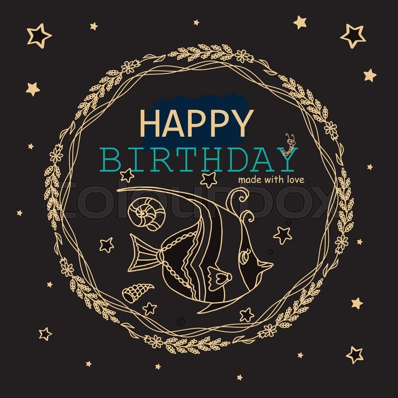 Happy birthday greeting card black gold metallic and bondi blue stock vector of happy birthday greeting card black gold metallic and bondi blue bookmarktalkfo Images