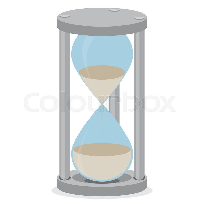 sand glass isolated time clock and hourglass icon hourglass