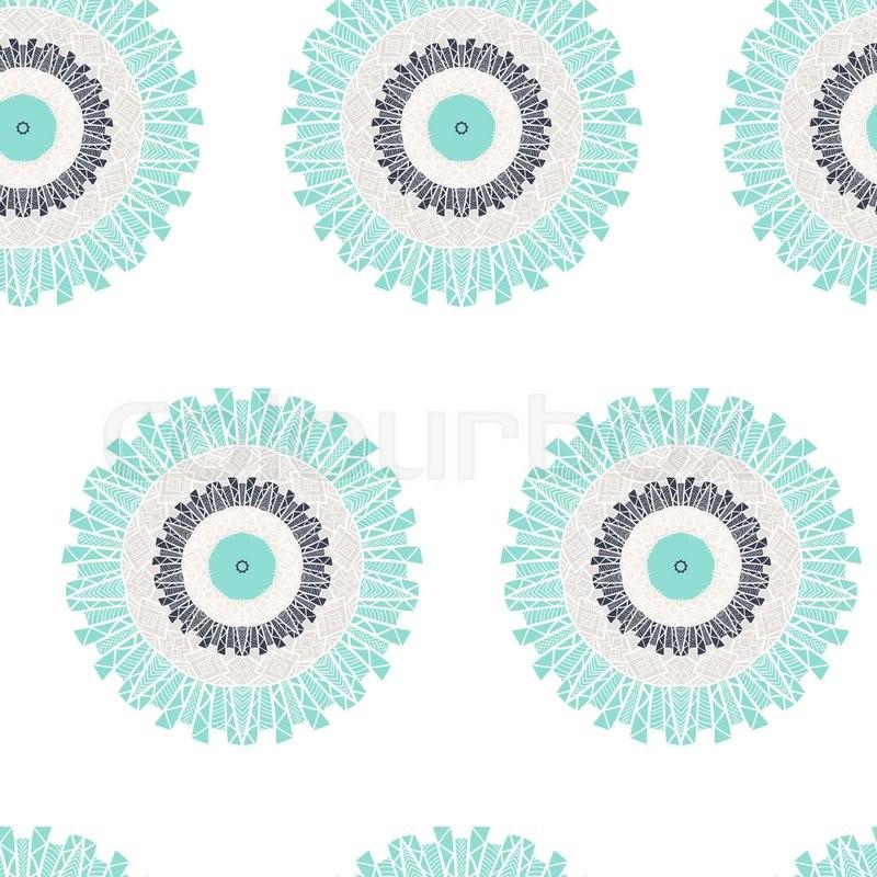 Hand drawn Mandala Seamless Pattern. Arabic, indian, turkish and ...