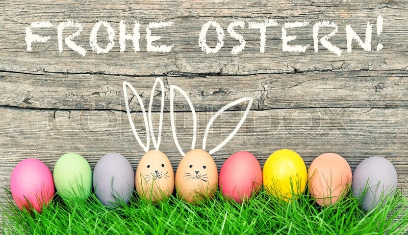Easter eggs cute bunny. Funny ... | Stock image | Colourbox