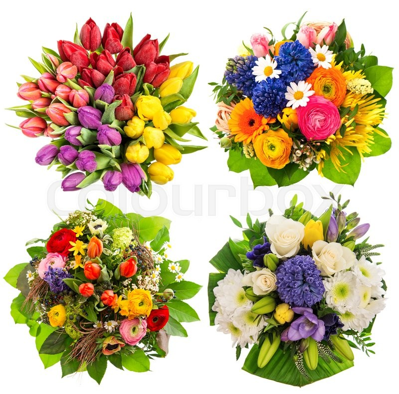 Colorful flower bouquets for Birthday, Wedding, Mothers Day, Easter ...