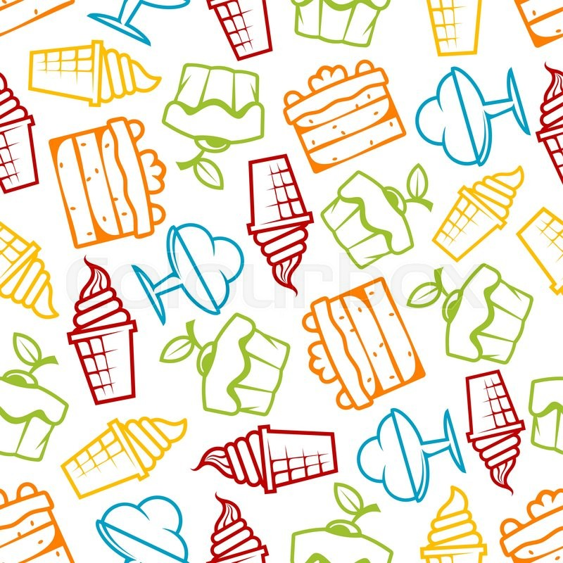 Icecream Cone Cupcake Wallpapers Mobile Pics: Cupcakes And Ice Cream Seamless ...