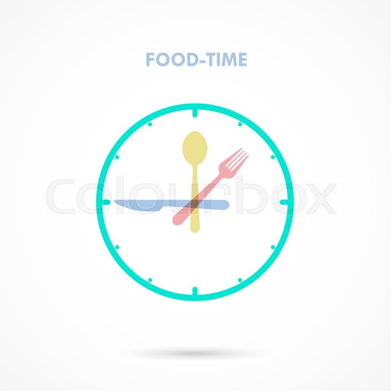 Food TimeLunch Time IconEating ConceptForkknife And Spoon SignBusinessfood Drink Concept Vector Illustration