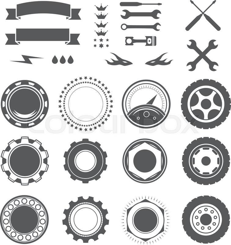 Set to create a vintage logo, badge, emblem or logotype ...