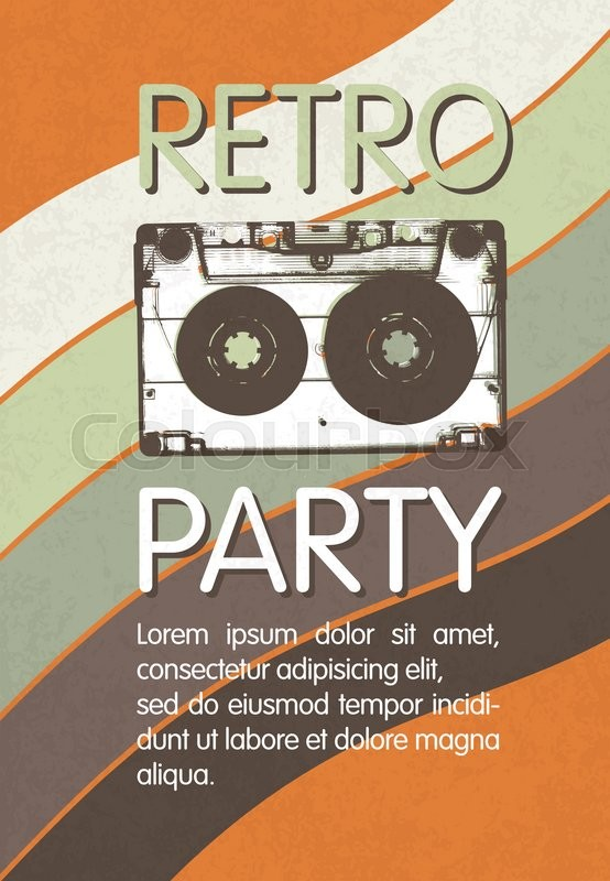 Retro music party poster design disco music vintage party retro music party poster design disco music vintage party invitation template stock vector colourbox stopboris Gallery