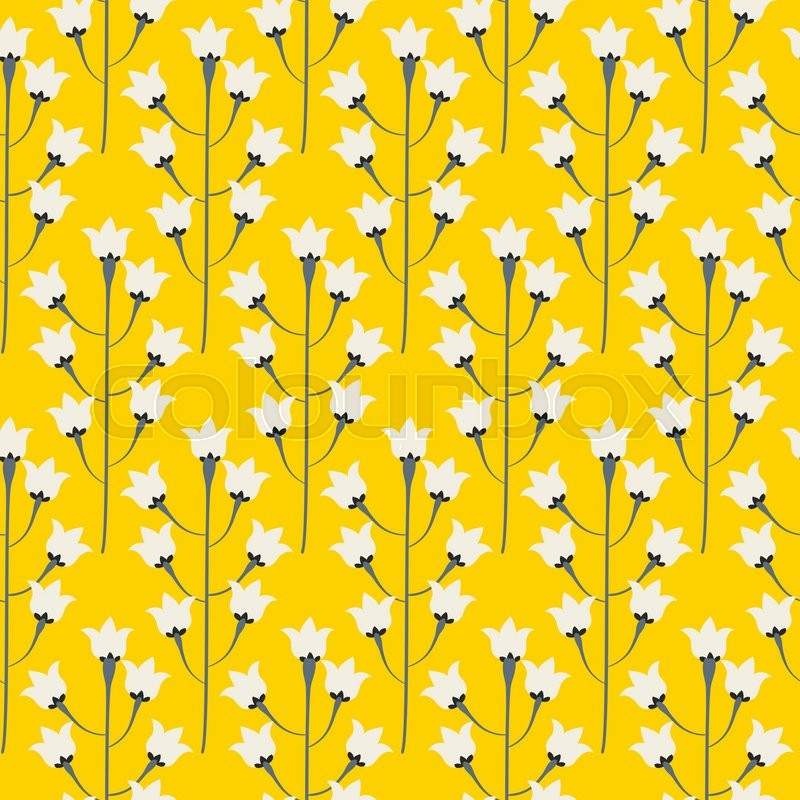 Wild bluebell bright yellow flower spring field seamless pattern 800pxcolourbox18492116g mightylinksfo