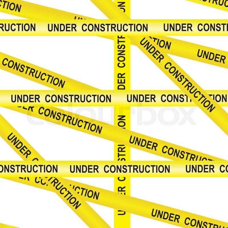 under construction caution tape entrance prohibited background rh colourbox com caution tape border vector Cartoon Caution Tape