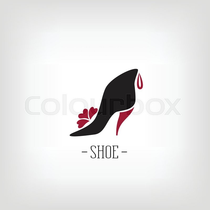 stylized womens shoes on a white background logo shoe store logo design for the company stock vector colourbox
