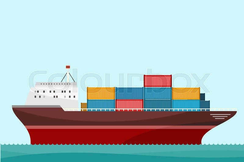 cargo ship containers shipping delivery ship  cargo container  cargo truck  sea transport ocean wave vector graphic ocean wave vector download