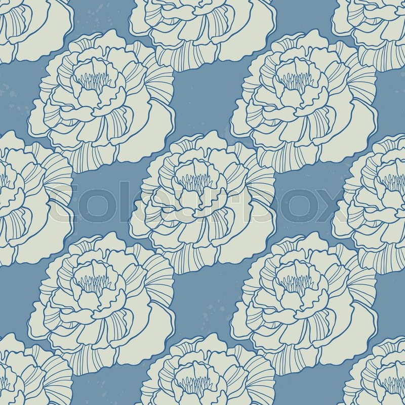 Spring Rampage Seamless Vector Pattern Rock Version Of Blooming
