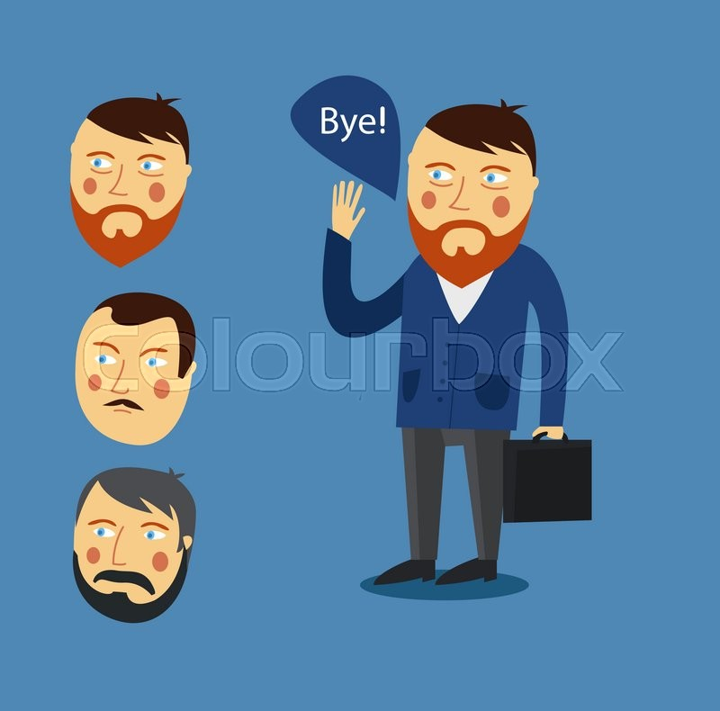 Vector Art - Businessman greeting partner vector concept. business ...