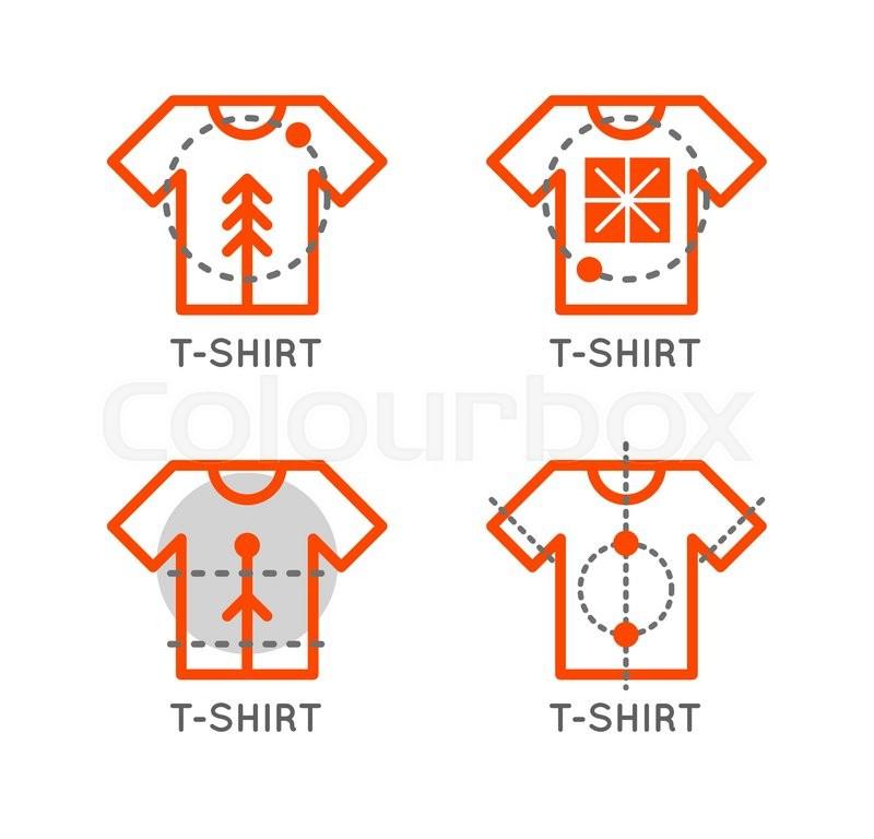 Vector t shirt logo set online shop logo clothing shop for T shirts store online