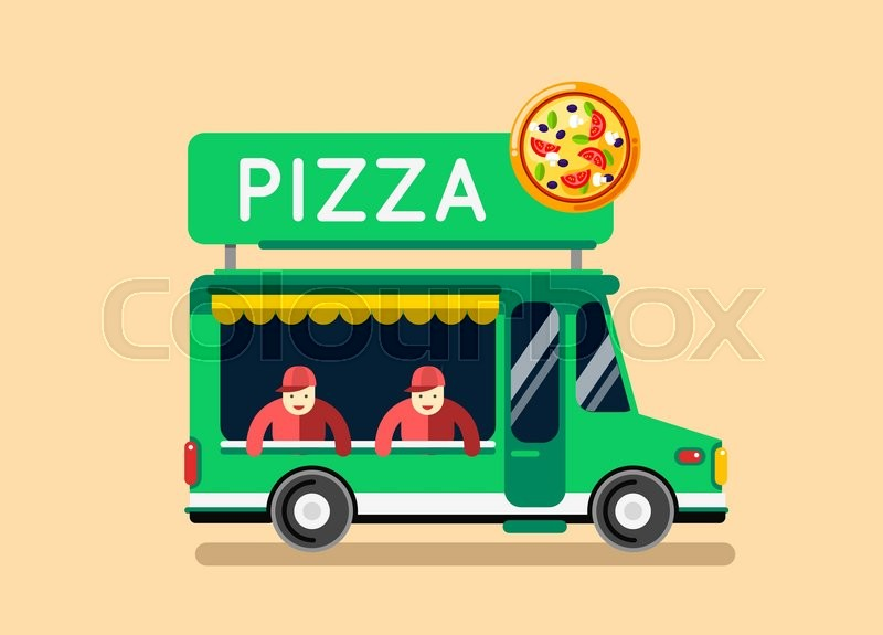 Food Truck In Cook Text
