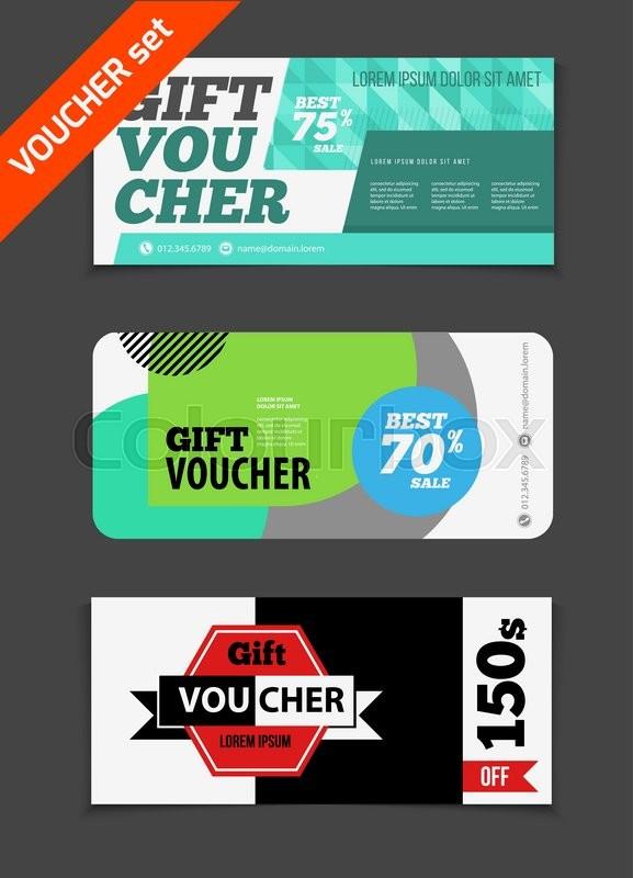 Gift voucher vector set Sale voucher vector illustration Store – Discount Voucher Design
