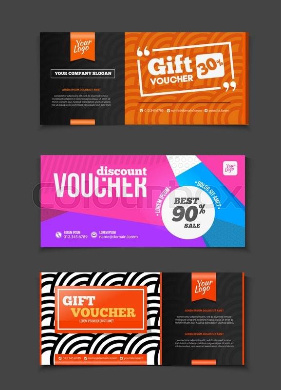 Gift voucher vector set. Sale voucher ... | Stock Vector ...