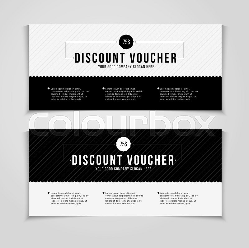 gift or discount voucher template with   stock vector