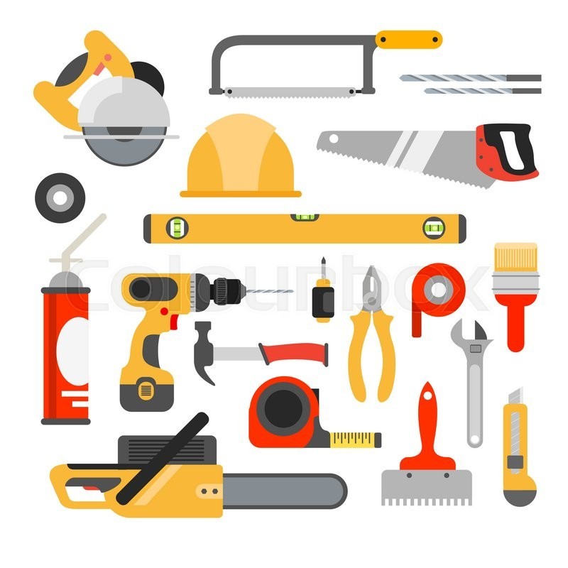 Home Repair Tools Vector Icons Stock Vector Colourbox